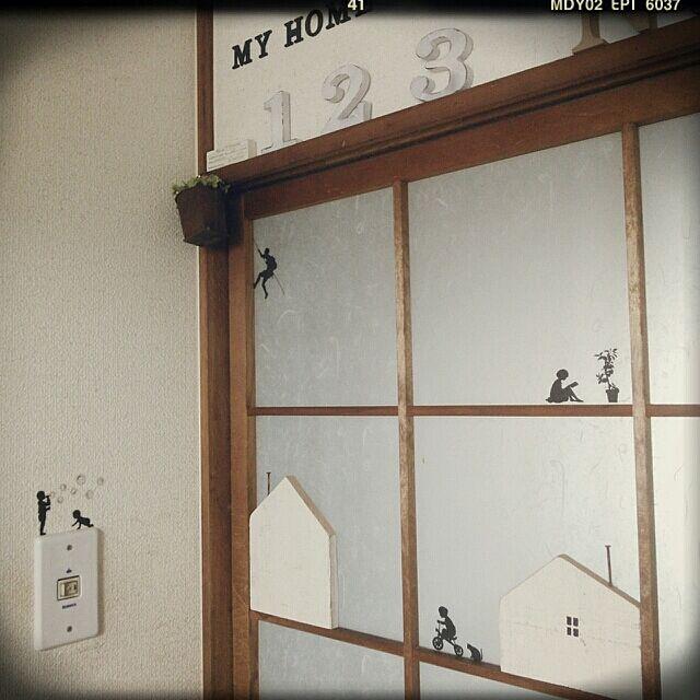 On Walls,セリア,ウッドプロ木端,ウォールステッカー♡ daisorarinの部屋