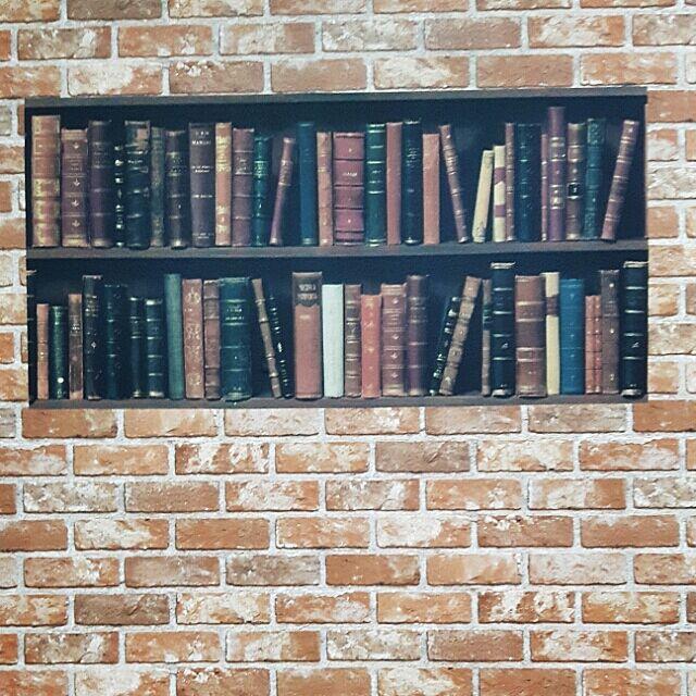 On Walls,レンガ壁紙,本棚風壁紙,初投稿です♡よろしくお願いします。 3015emikoの部屋