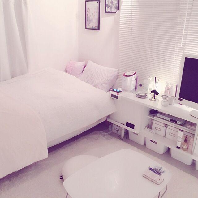 Francfranc,イケア,IKEA,フランフラン,インテリア,無印,無印 ベッド,Muji,ベッド,無印良品,Overview rntkmrの部屋