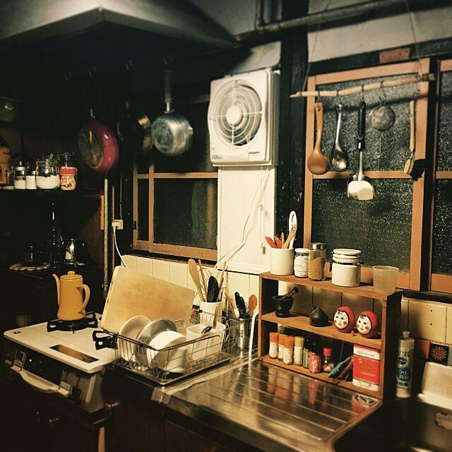 Kitchen,古民家,カフェ風,一人暮らし,ナチュラル,レトロ ki..koの部屋