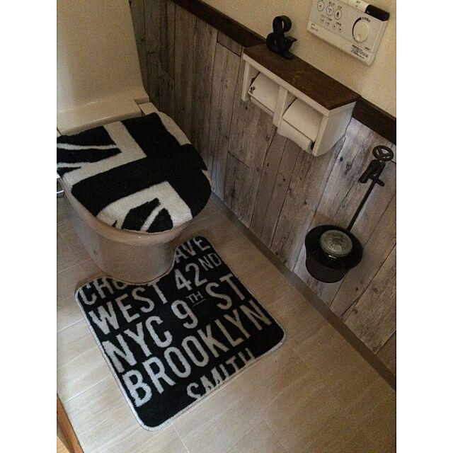 Bathroom,アイアン,壁紙DIY,ビーカンパニー,みなさんのお部屋まわれなくてごめんなさい,いいね!ありがとうございます♪,RC広島支部,トイレマット,コッソリ散財する会 mika4946の部屋