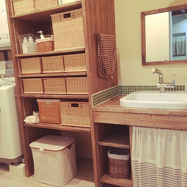Bathroom,ニトリの洗濯入れ,無印良品,かご,戦利品♡ atsuの部屋