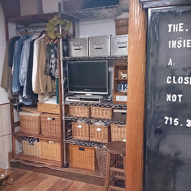 Bedroom,収納,DIY,床の間 クローゼット,ニトリ,無印良品,みんなとたわむれ隊٩(♥ε♥ )۶,関西好きやねん会,男前にも憧れる♡,クッションフロア,衣類 収納 nonの部屋