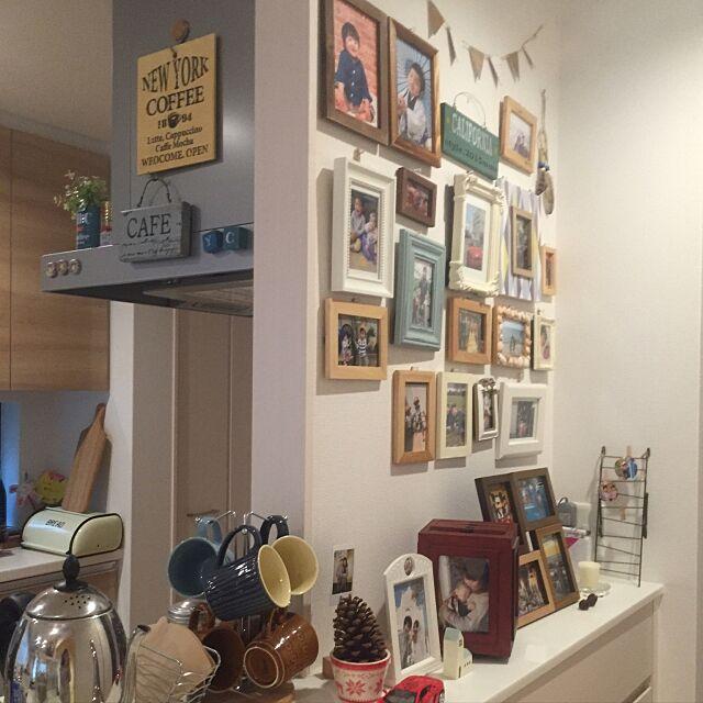 On Walls,フォトフレーム,写真コーナー,RC九州支部,しゃれとんしゃあ会,インスタやってます!,インスタ→chie_nico2014,ナチュラルインテリア,マイホーム,ニトリ,こどもと暮らす。,IKEA Chie2015の部屋
