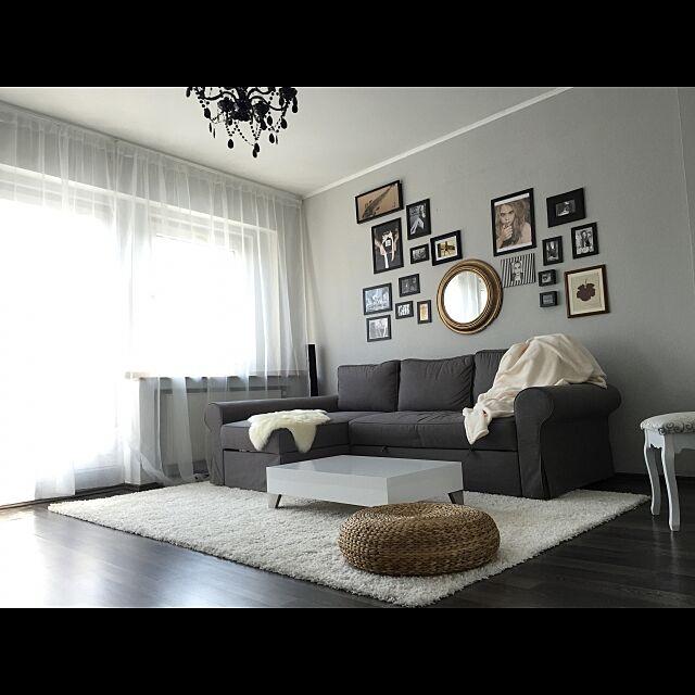 Lounge,IKEA,ソファ,照明,一人暮らし Emikaの部屋