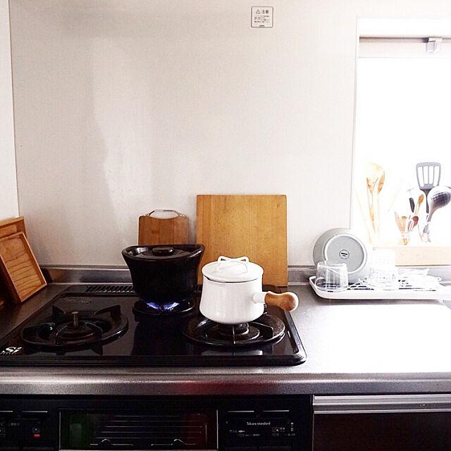Kitchen,土釜おこげ,ダンスク,一人暮らし,無印良品 f.oheyaの部屋