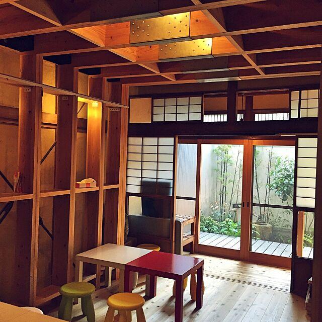Overview,昭和レトロ,長屋,耐震シェルター,杉,無垢材,IKEA,庭 NORiの部屋