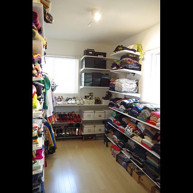 My Shelf,壁面収納,IKEA,クローゼット,ブラインド,洋服部屋,ALGOT,建売住宅,洋服収納,見せる収納,靴収納,衣類収納 meeの部屋