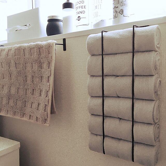 Bathroom,アイアンバー,キャンドゥ,ニトリ,100均,セリア suyamayamaの部屋