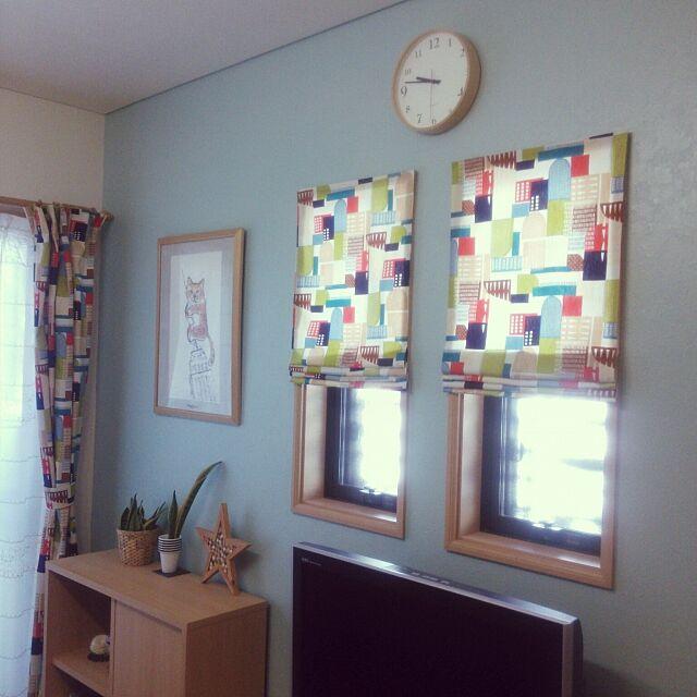 On Walls,カーテン,手作りカーテン,シェード風,コンテスト参加中 serotiの部屋