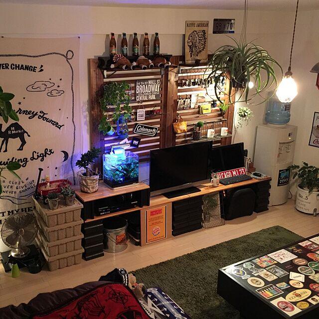 Overview,ハワイウォーター,エジソンバルブ,パルプボックス,一人暮らし,IKEA,ファイヤーキング,エアプランツ,ハリウッドランチマーケット,リメイク缶,ガジュマル,多肉植物,ヘデラ,クッカバラ,アクアリウム,コナビールの瓶,ペンドルトン,NO GREEN NO LIFE,賃貸,アウトドアインテリア,植物,植物が好き,1K,植物のある暮らし,男の一人暮らし,植物のある部屋,観葉植物 ka-zu23の部屋
