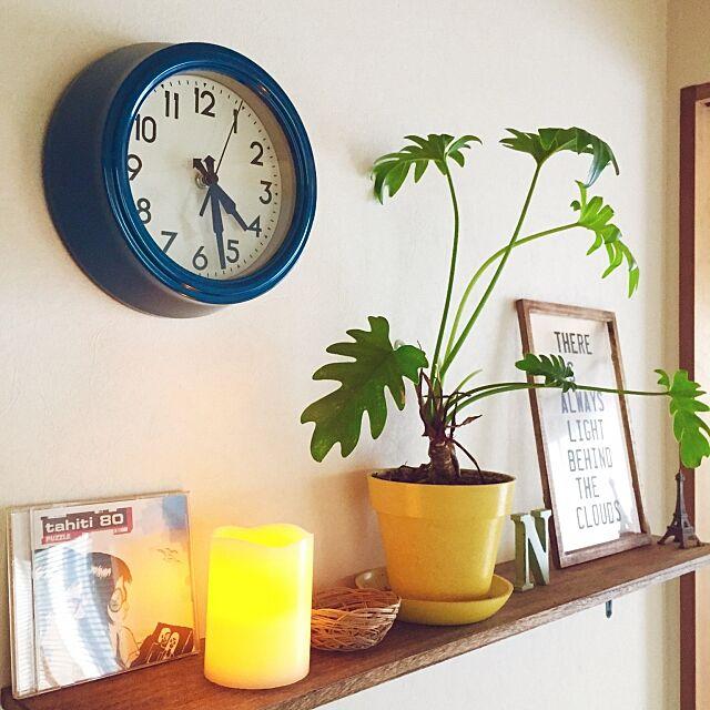 My Shelf,LEDキャンドルライト,時計,ニトリ kumiの部屋