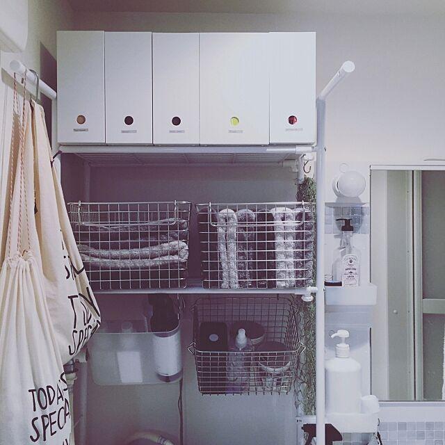 Bathroom,COLONY 2139,scope version.R,シンデレラフィット,無印良品,グレーインテリア,賃貸,IKEA,TODAY'S SPECIAL,狭小,タイルシート A_Z..yanの部屋