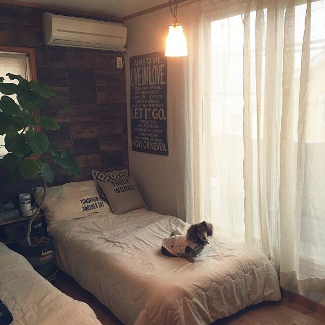 Bedroom,寝室,いいね&フォローありがとうございます☆,サンプリング,サンプリングに当選しました♡,パーフェクトスペース,パーフェクトスペースカーテン館,カーテン,ウンベラータ,千葉県民 asami1130の部屋