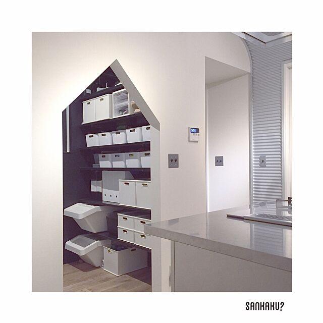 My Shelf,パントリー収納,パントリー,カインズホーム,IKEA,ニトリ,三角,トーヨーキッチン,板金,塩系インテリアの会,新築 iicccの部屋