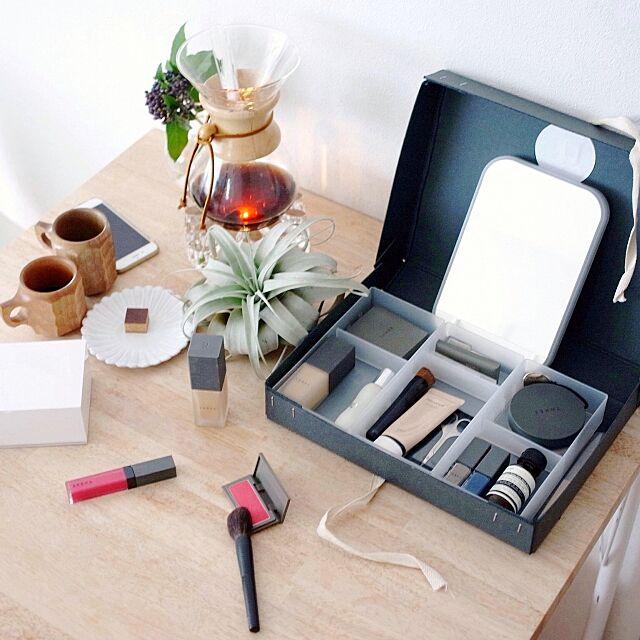 無印良品,シンデレラフィット,コシャー箱 メイクボックス ,コシャー箱,FOUND MUJI,メイクボックス Katsuraの部屋