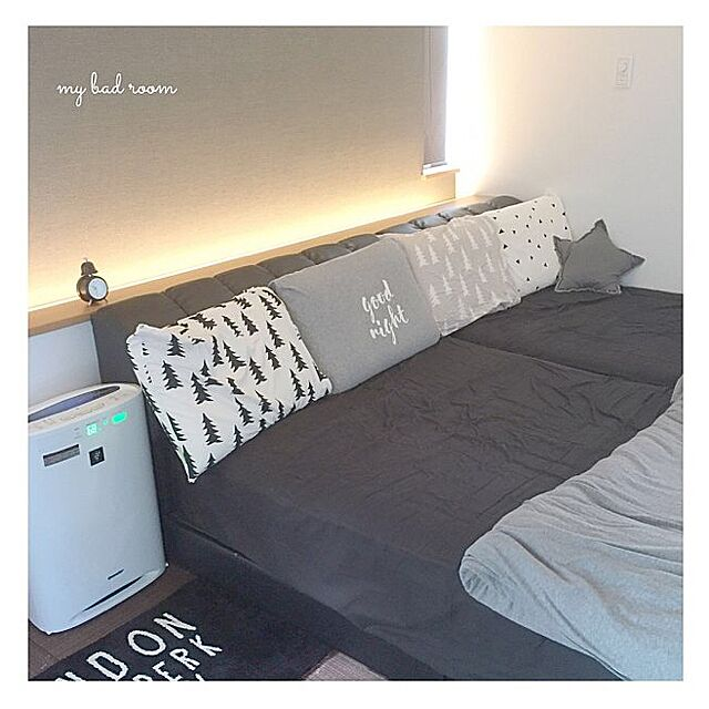 Bedroom,間接照明,無印良品,ジェラートピケ,ニトリ,monosis,finelittleday,寝室 ___yoko.rtyの部屋