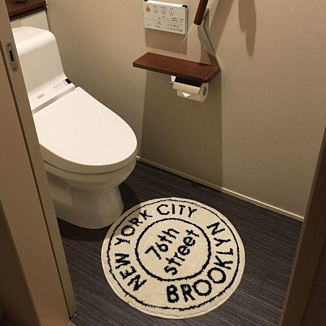Bathroom,ブルックリン,トイレマット,TOTOトイレ,しまむら,ナチュラル,男前 kinpatuno174BBAの部屋