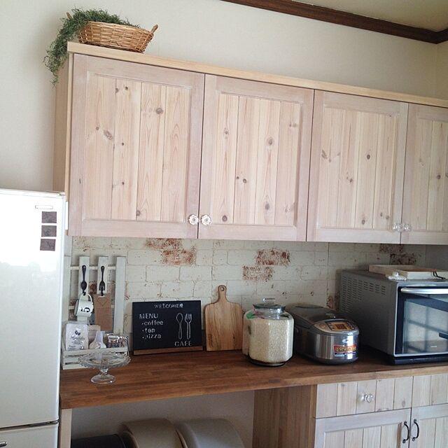 Kitchen,発泡スチロールのレンガ壁,発泡スチロール cheshanekoの部屋