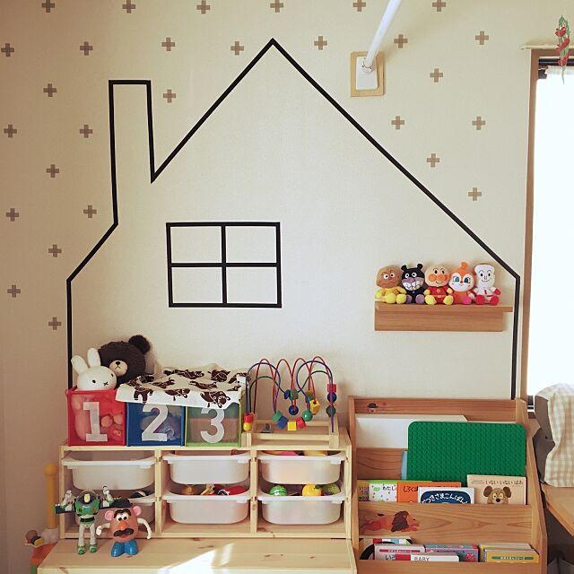 On Walls,ハンドメイド,DIY,こどもと暮らす。,IKEA,100均,セリア,ダイソー,雑貨,キッズスペース tamakiの部屋