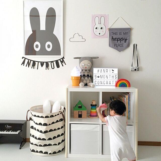 Lounge,ライトボックス,おもちゃ箱,赤ちゃん収納,Numero74,miniwilla,ラッキーボーイサンデー,赤ちゃんのいる暮らし,赤ちゃんスペース,IKEA,ミカヅキモモコ RABIの部屋