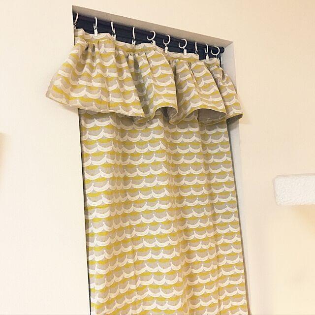 On Walls,手作りカーテン,手作り,突っ張り棒にカーテン askahimeの部屋