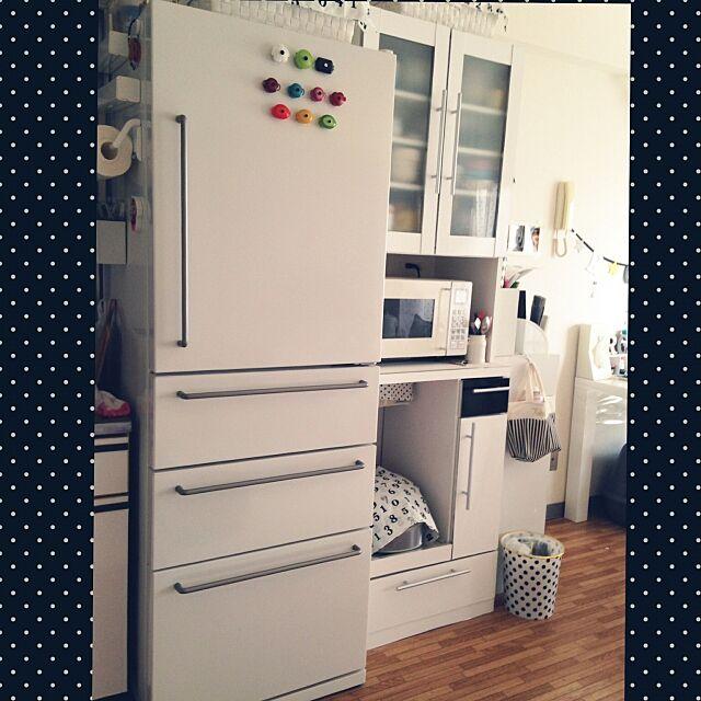 家電コンテスト,コンテスト参加中,家電,無印良品,無印良品冷蔵庫,無印良品オーブンレンジ,冷蔵庫,白い冷蔵庫,無印良品 ,炊飯器隠し Sakiの部屋