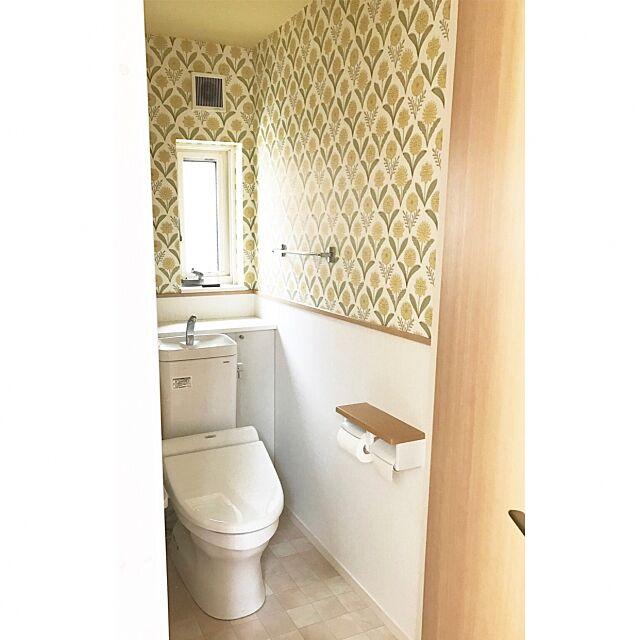 Bathroom,ダイワハウス標準仕様,トイレ,テラコッタ調クッションフロア,アクセントクロス hotaboの部屋