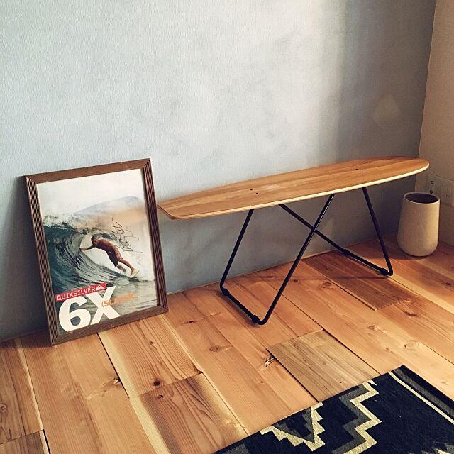 Lounge,WTW,床板,アクタス,観葉植物,DIY,サーフボードテーブル,サーフィン,和室を洋室に ,ホームセンター,雑貨 hsmの部屋