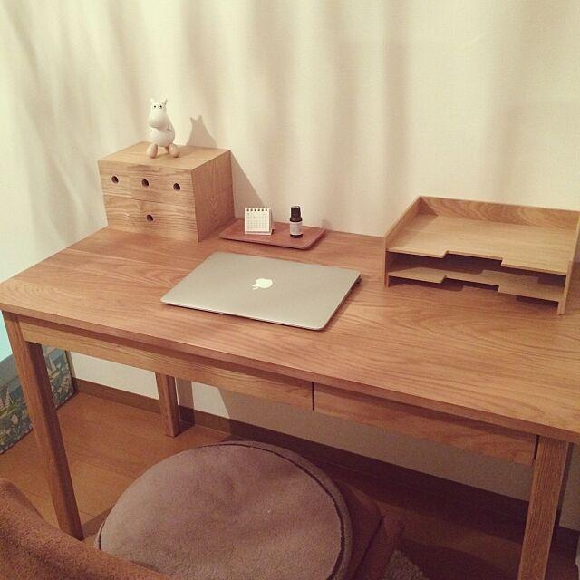 My Desk,ムーミン♡,無印良品,北欧,ナチュラル foohの部屋