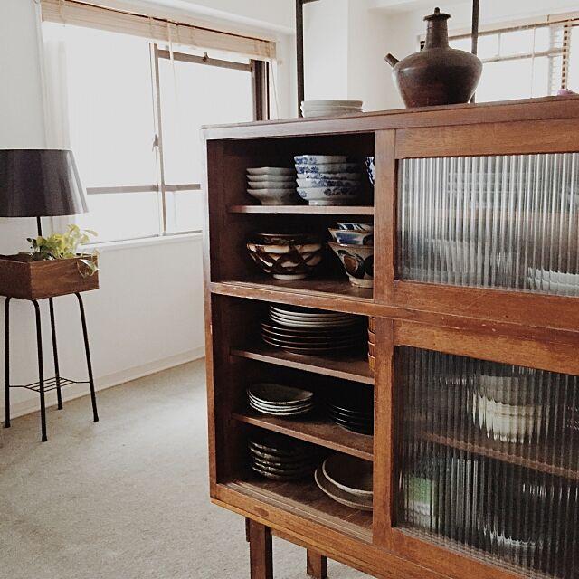 和食器,レトロ,マンション,DIY,シンプル,古家具,シンプルライフ,Instagramやってます,IKEA,アンティーク,イベント,グリーンのある暮らし,観葉植物,My Shelf yamamoの部屋