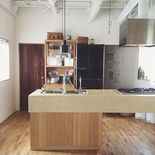 Kitchen,北欧,大川家具製作所,フレイム,フレイム照明,flame,照明,北欧インテリア nozomiの部屋