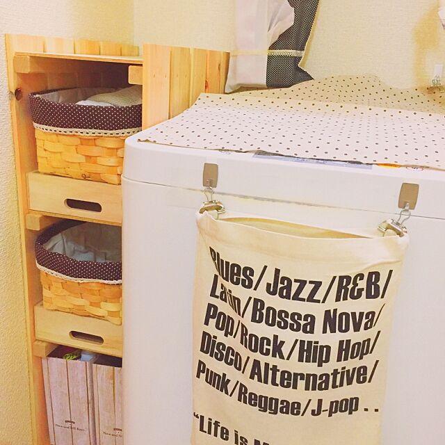 Bathroom,ファイルボックス,バスケットかご,すのこ,レオパレス21,レオパレス,100均,ダイソー,DIY,シンプルナチュラル,ナチュラル,セリア,脱衣所,洗面台,極狭,洗濯機まわり,収納,収納アイデア,男前インテリア chicoccoの部屋