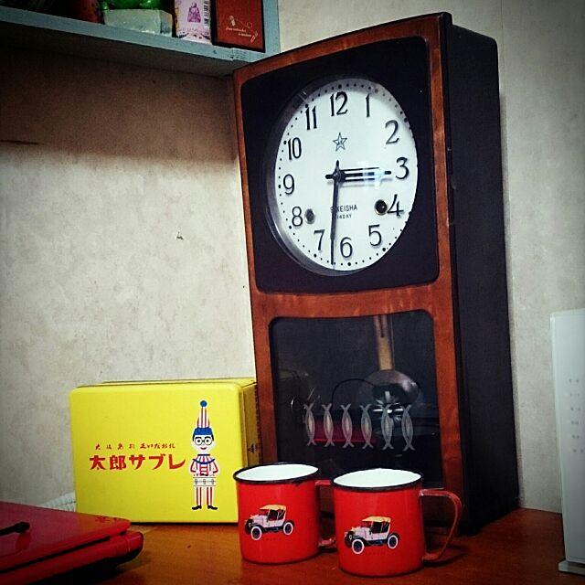 My Desk,振り子時計,昭和レトロ,レトロ maamaの部屋