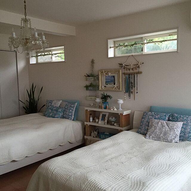 Bedroom,足場板の棚,ホテルライク,グリーンのある暮らし,西海岸インテリアに憧れ中,流木,流木リメイク,100均大好き,100均リメイク,沢山のいいねとフォローをありがとう cooの部屋