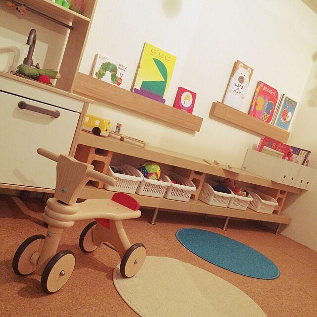 コルクマット,ストレージ,子供部屋,100均,セリア,IKEA,無印良品,My Shelf yi0405の部屋