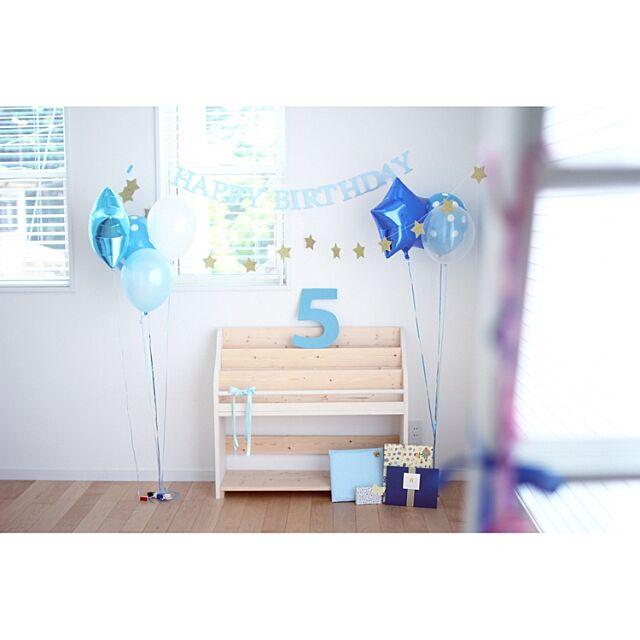 Lounge,バルーン,絵本棚,IKEA,誕生日,誕生日飾り付け,飾り付け asuの部屋