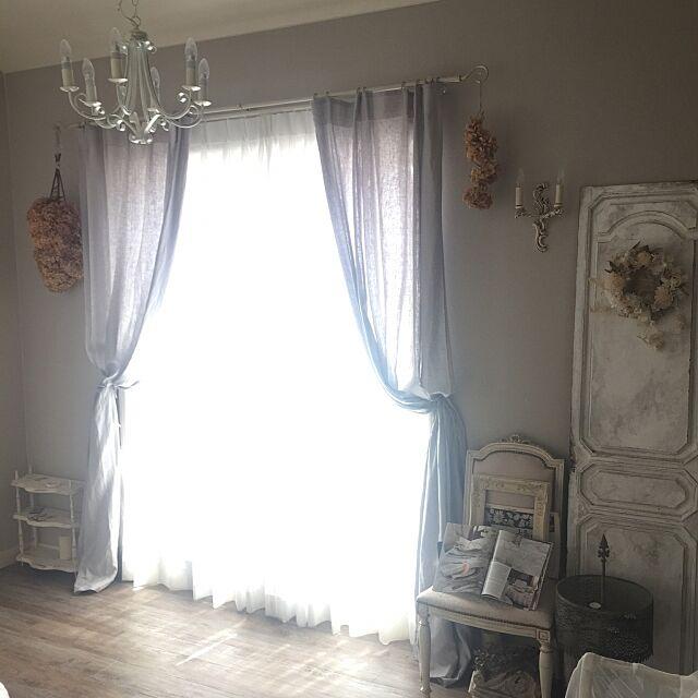 Bedroom,IKEAカーテン,IKEA,アンティーク,ディスプレイ,シャビーシック,海外インテリアに憧れる,アンティーク家具,フレンチシック MIKIMIKI...の部屋