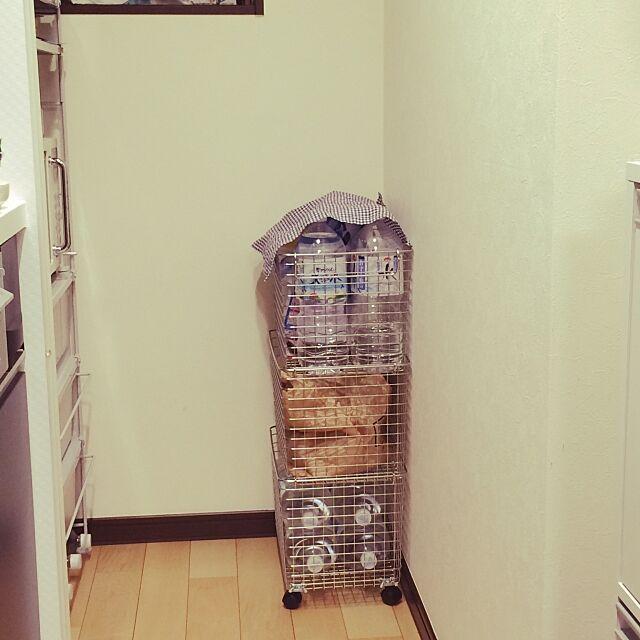Kitchen,無印良品,なるべくスッキリと,シンプル,ステンレスバスケット nonの部屋