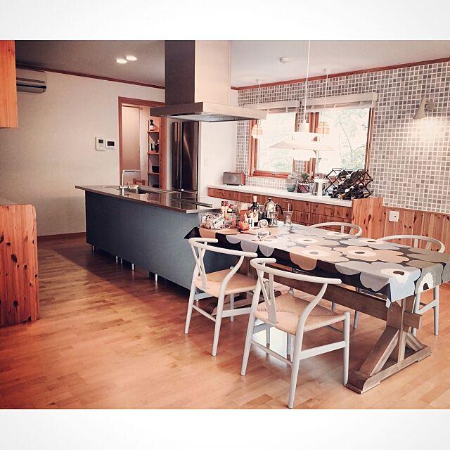 配置替えアフター,デザイナーズ,グレーが好き。,Kitchen,タイル壁,リメイクキッチン hana729の部屋