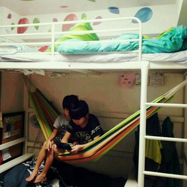 Bedroom,キッズベッド,ロフトベッド,IKEA,ハンモック,FLYING Tiger  megu-iの部屋