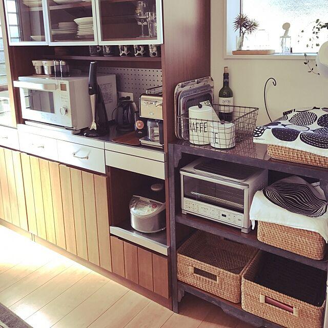 Kitchen,unico,マリメッコ,ラガハウス,無印良品,デロンギコーヒーメーカー walking123の部屋