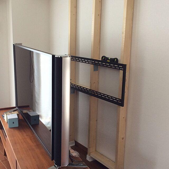 ディアウォール,テレビ台,Overview,1日目,壁掛けテレビ,DIY,その2,2×4材 aquic0の部屋