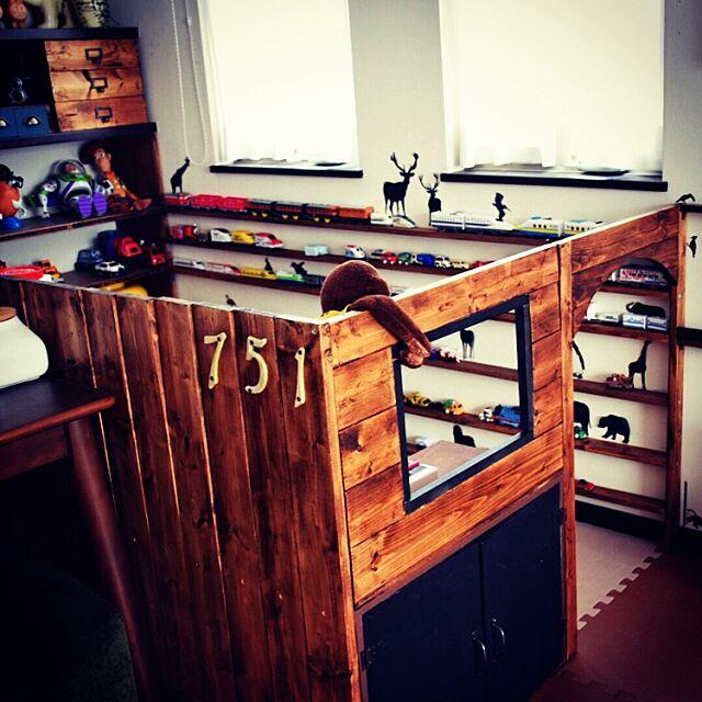 My Desk,男の子,子供部屋,秘密基地,こどもと暮らす,キッズスペース,IG→SAORIN501,静岡県民,DIY,BRIWAX SAORIN51の部屋