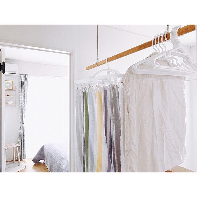 室内干しスペース,衣類ハンガー10本組,折りたたみ角ハンガー44ピンチ,HOME COORDY,ホームコーディ,モニター,イオン,トップバリュー,ホワイトインテリア,Bathroom 2winkle-starの部屋