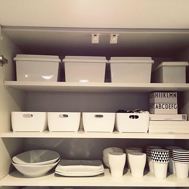 Kitchen,食器棚,DESIGNLETTERS,ダイソー,IKEA,100均,セリア,3Coins,ホワイトシンプル連合会 96mico69の部屋