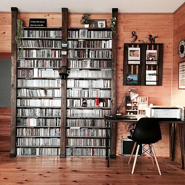Lounge,100均 ,イームズチェアリプロダクト,ルーチェプラン,ディアウォール,CDラック,机DIY,すのこDIY,ベストショット,男前,木の家 mamyuの部屋