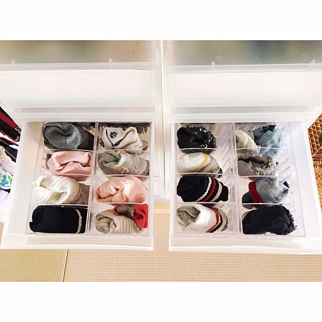 My Shelf,セリア,靴下収納,和室,シンプルな暮らし yamaco_chanの部屋