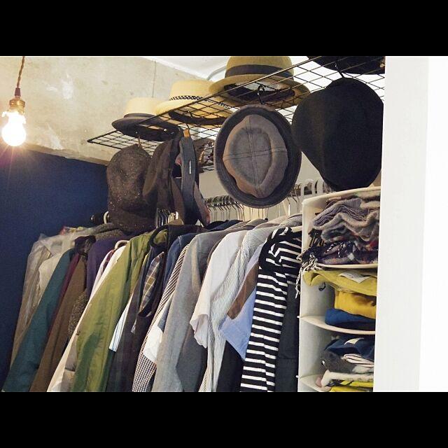 DIY,オープンクローゼット,クローゼット,リノベーション,収納,帽子 florenceの部屋