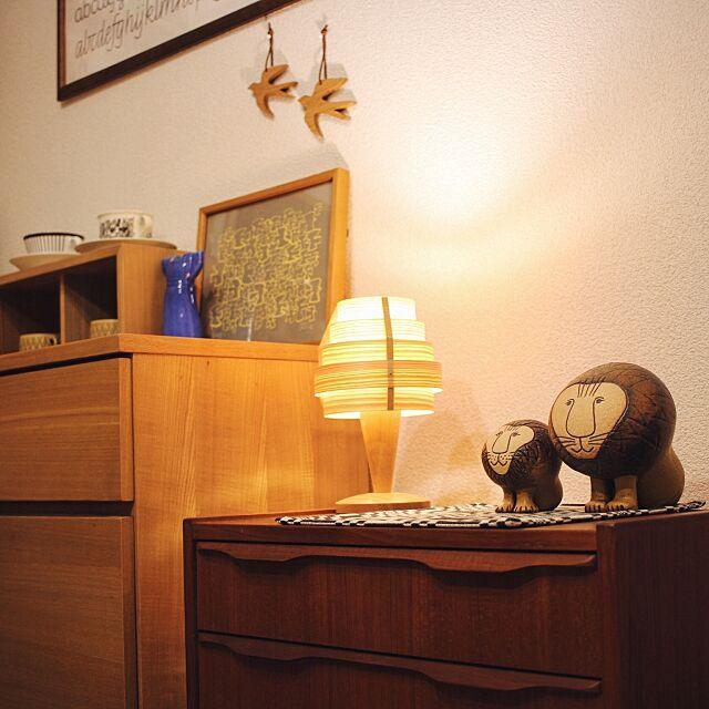 Lounge,リサラーソン,無印良品 壁に付けられる家具,北欧,シンプル,バーズワーズシルクスクリーン,チェスト,バーズワーズ,無印良品,北欧雑貨,ヤコブソンランプ,北欧テイスト,リサラーソンライオン,シンプルインテリア,北欧ヴィンテージ,北欧食器,リサラーソンワードローブシリーズ meemeeの部屋